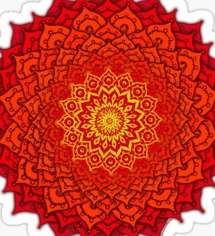 okshirahm rose mandala Sticker