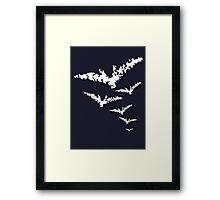 Chalk Bats Framed Print