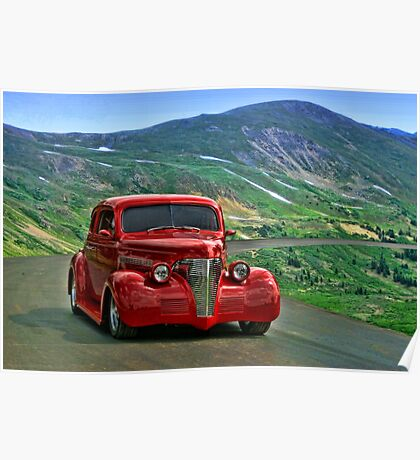 1939 Chevrolet Coupe Hot Rod Poster