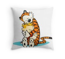 Calvin and hobbes i love forever Throw Pillow