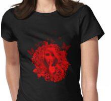 Secret Garden T Shirt in Crimson Womens Fitted T-Shirt