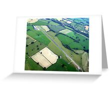 Welshpool Airfield Aerial shot Greeting Card