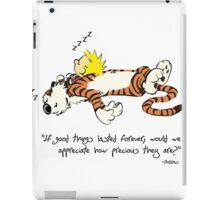 Calvin And Hobbes sleeping before Christmas iPad Case/Skin