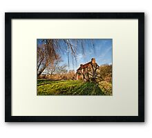 Stenwith Lock Keepers Cottage Framed Print