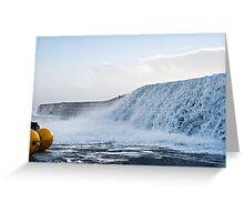 Wall Of Water ~ Lyme Regis Greeting Card
