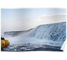 Wall Of Water ~ Lyme Regis Poster