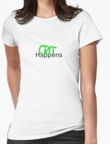 Crit Happens Womens Fitted T-Shirt