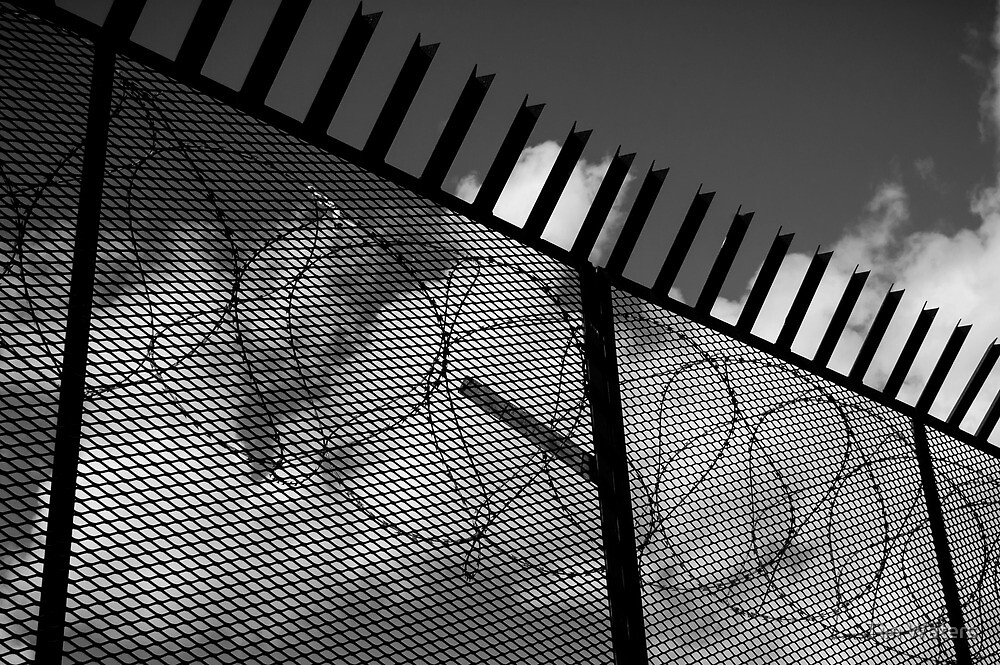 Imprisoned Black and White by Tim Waters