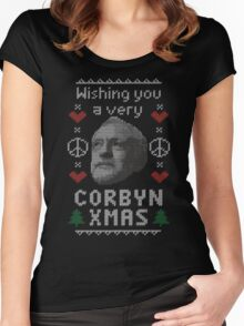 Wishing You A Very Corbyn Xmas Women's Fitted Scoop T-Shirt