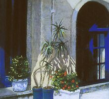 Blue Entrance with Plantings by Howard Scherer