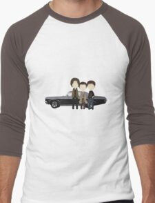 Supernatural cute team free will / Sam & Dean Winchester / Castiel Men's Baseball ¾ T-Shirt