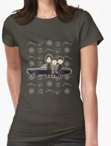 Supernatural cute team free will / Sam & Dean Winchester / Castiel Womens Fitted T-Shirt