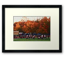 Autumn Football with Sponge Painting Effect Framed Print