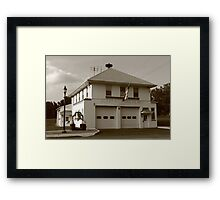 Vintage Firehouse Framed Print