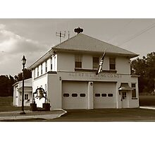 Vintage Firehouse Photographic Print