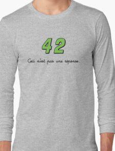 42 n'est pas une réponse (DARK) Long Sleeve T-Shirt