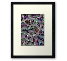 SILVER INTRUSION Framed Print