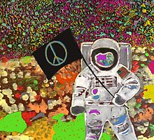 Peace on Space by mike gonzolo