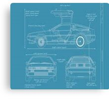 BTTF DELOREAN DRAWINGS Canvas Print