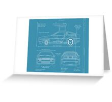 BTTF DELOREAN DRAWINGS Greeting Card