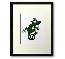 Lizard gecko Framed Print