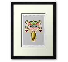 libra zodiac sign Framed Print
