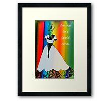Special person card Framed Print