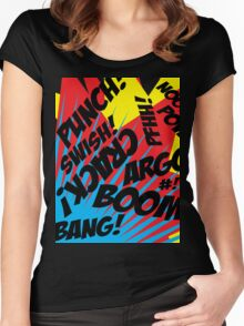 Comic Madness! Women's Fitted Scoop T-Shirt