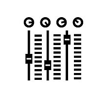 DJ Turntable Mixe Photographic Print