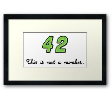 42 This is not a Number (dark) Framed Print