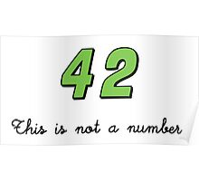42 This is not a Number (dark) Poster
