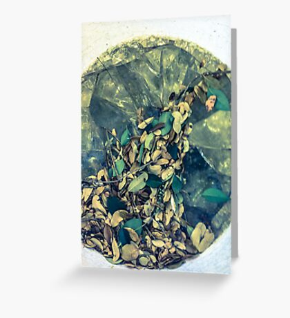 Broken Glass Greeting Card