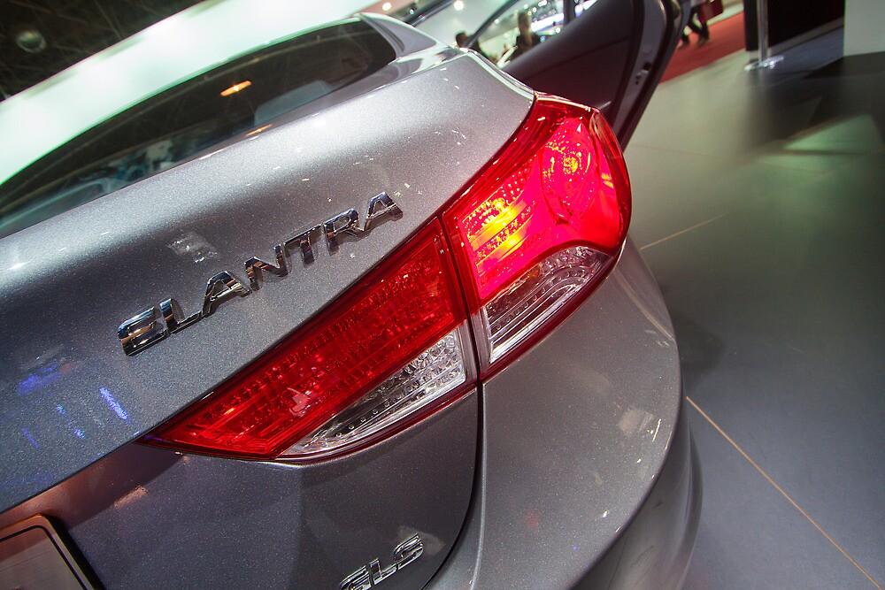 Hyundai Elantra Back Red Light [ Print & iPad / iPod / iPhone Case ] by Mauricio Santana