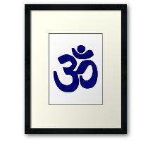 Om yoga Framed Print