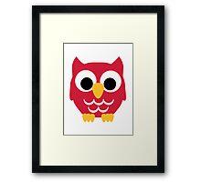 Red owl Framed Print