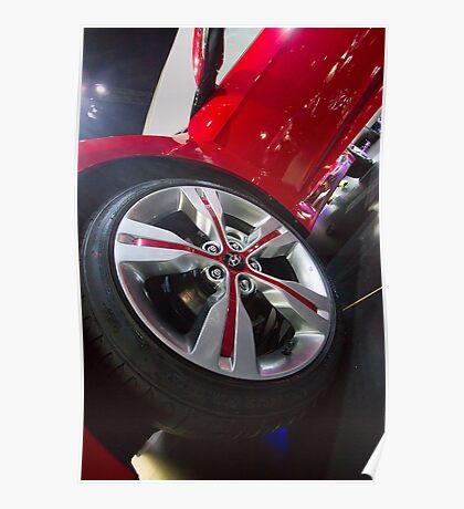 Hyundai Veloster Wheel [ Print & iPad / iPod / iPhone Case ] Poster