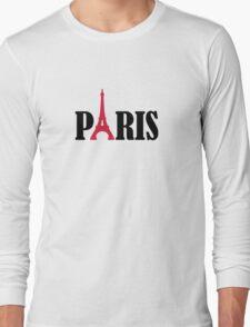 Paris Eiffel Tower Long Sleeve T-Shirt