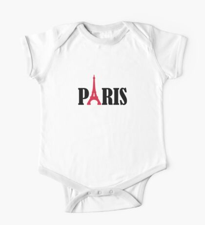 Paris Eiffel Tower One Piece - Short Sleeve