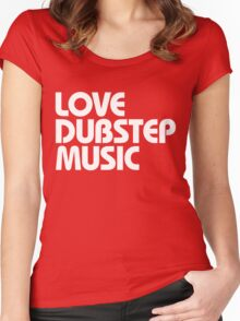 Love Dubstep Music (white) Women's Fitted Scoop T-Shirt