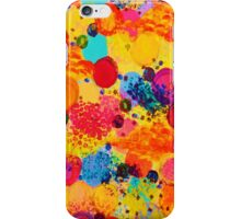 TIME FOR BUBBLY 2 - Fun Fiery Orange Red Whimsical Bubbles Bright Colorful Abstract Acrylic Painting iPhone Case/Skin