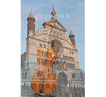 The magnificent cathedral city of Cremona in Italy Photographic Print