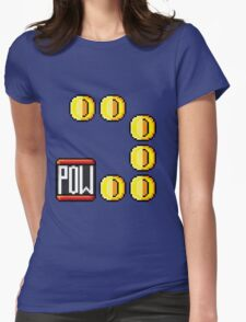 POW then Coins Womens Fitted T-Shirt