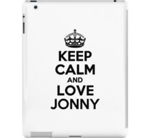 Keep Calm and Love JONNY iPad Case/Skin