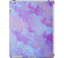 PURPLE PLUMES - Soft Pastel Wispy Lavender Clouds Lilac Plum Periwinkle Abstract Acrylic Painting  iPad Case/Skin