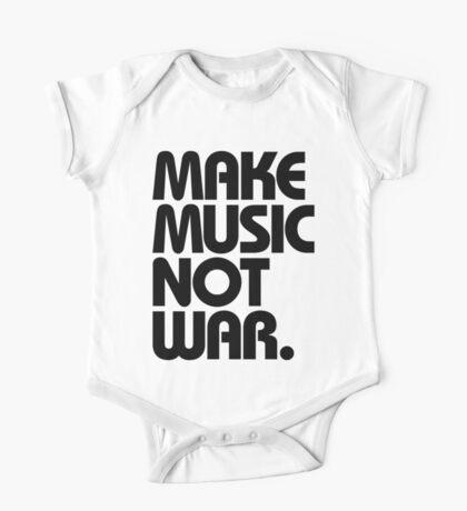 Make Music Not War One Piece - Short Sleeve