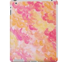 PINK PLUMES - Soft Pastel Wispy Pretty Peach Melon Clouds Strawberry Pink Abstract Acrylic Painting  iPad Case/Skin