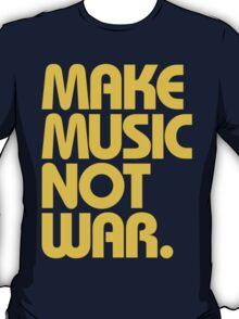 Make Music Not War (Mustard) T-Shirt
