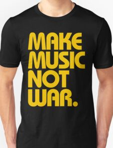 Make Music Not War (Mustard) T-Shirt