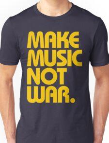 Make Music Not War (Mustard) Unisex T-Shirt