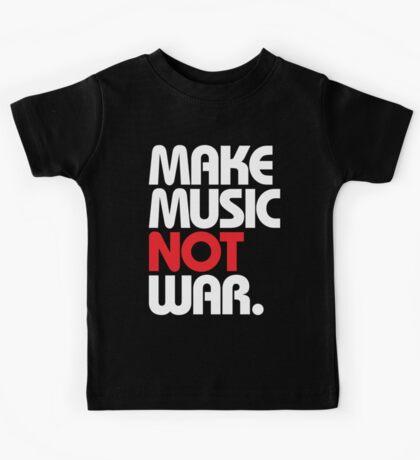 Make Music Not War (black/red) Kids Tee